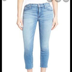 HUDSON Fallon High Rise Raw Hem Crop Skinny Jeans